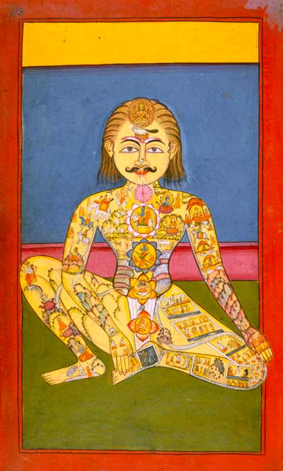 Yoga traditionnel - Manuscrit de hatha yoga, 19ème siècle ©British Library